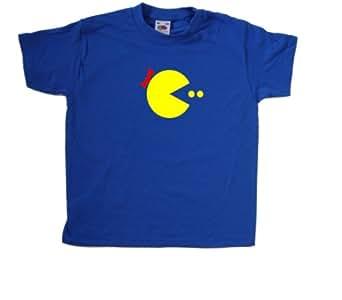 Ms Pacman Royal Blue Kids T-Shirt (Yellow print)-2-3 Years