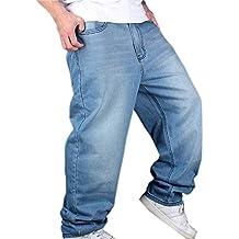 4d81d37c7201c Pantalones De Mezclilla Hip Hop De Hombre Hellbalu Tamaños Cómodos  Pantalones De Mezclilla Estilo Holgado Hugh