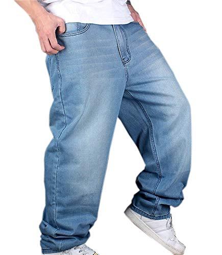 Pantalones De Mezclilla Hip Hop De Hombre Hellbalu Tamaños Cómodos Pantalones De Mezclilla Estilo Holgado Hugh De Rap Pantalones Ocasionales De Mezclilla Pantalones De Mezclilla De Pierna Recta Ropa