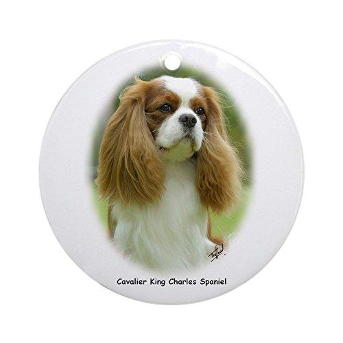 (CafePress–Cavalier King Charles Spaniel 9Schmuck f97d-19(R–Rund Urlaub Weihnachten Ornament)