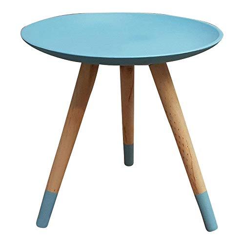 dasmöbelwerk Beistelltisch Telefontisch Sofatisch Tisch Retro Design Dreibeiner blau