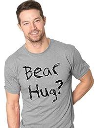 Crazy Dog Tshirts Mens Grizzly Bear T shirt Funny Bear Hug Shirt Humorous T shirt for Men Novelty Tees - Camiseta Divertidas