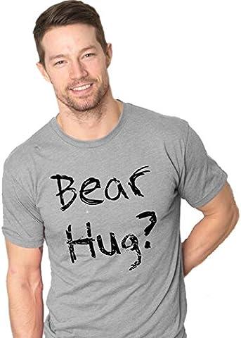 Crazy Dog TShirts - Mens Grizzly Bear T shirt Funny