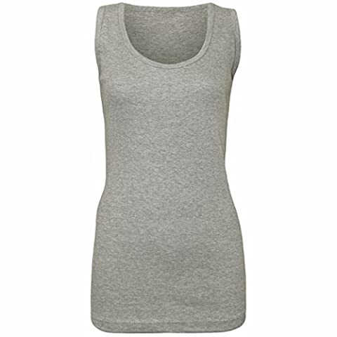 PACK OF 2 WOMENS COTTON PLAIN VESTS LADIES SUMMER CASUAL STRETCHY RIBBED SLEEVELESS CAMISOLE T-SHIRT STYLE MUSCLE GYM SPORTS RIB CAMI LONG VEST TANK TEE TOP PLUS SIZE 14-28