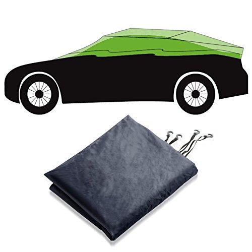 Autoabdeckung Halbgarage für Winter & Sommer | dunkelblau | passende Größe wählbar (Größe M: 259x122x61cm)