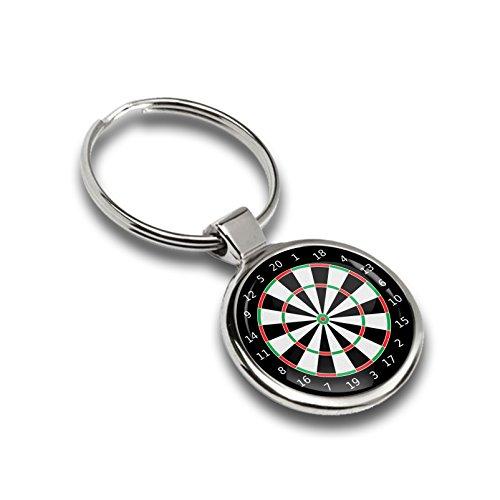 Porte-clés Sport Jeu Fléchettes Jeu de fléchettes Métal Keyring Clés de Voiture cadeau en métal Porte-clés K 131