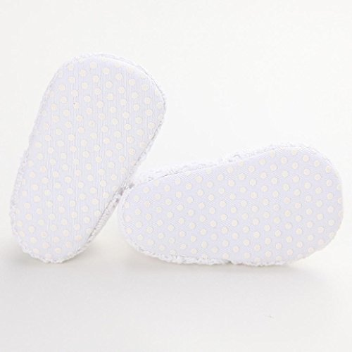 Ouneed® Krabbelschuhe , 0-18 Monate Baby Kind Mädchen weiche Sohle Krippe Kleinkind Neugeborenes Schuhe Weiß