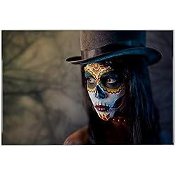 Carrelage Fantasy Gothic Maquillage crâne imprimées céramique 20x30 cm