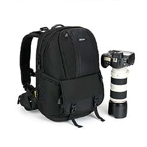 BB-17 sac à dos appareil photo / sac d'épaule en nylon imperméable / housse sac photo des objectifs et trépied / sac de reflex appareil photo numérique / sac d'affaire voyage sac à dos pour Nikon et Canon - noir