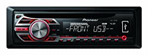 Pioneer RDS Tuner with Illuminated Front USB and Aux-In - Black