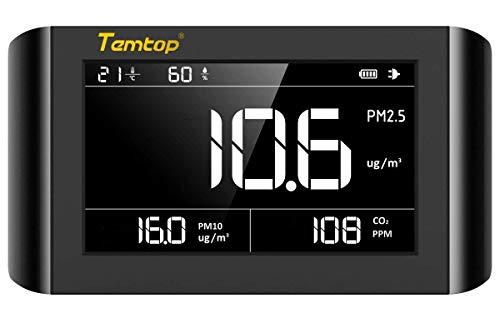 Luftqualität Messgerät-Hydrometer Feuchtigkeit Temperatur und Luftfeuchtigkeitsmesser Feinstaubmessgerät Digitales Detektor CO2 PM2.5 PM10 TEMP Tester Thermo Hygrometer Raumluftüberwachung