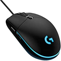 Logitech G102 Prodigy Kablolu Gaming Mouse, Siyah, 8,000 DPI, RGB,6 Programlanabilir Tuş, Yerleşik Bellek, PC ve Mac Uyumlu