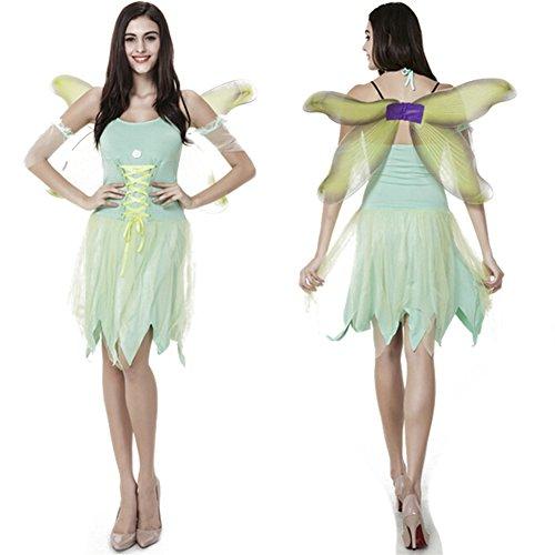 Kostüme Blumenelfen Fairy Set für Damen / Damen Abendkleid Grün (Catrina Kostüm Männer)