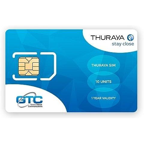 Thuraya Tarjeta SIM de Prepago Estándar (10 unidades incluidas) by GTC