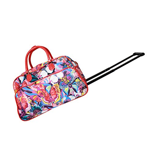 world-traveler-womens-tattoo-21-bag-trim-rolling-duffel-pink-butterfly-one-size