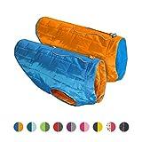 Kurgo Loft Chien Veste et réversible pour Chien, Disponible en Tailles XS, S, M, L et XL - Coastal Blue/Orange-M
