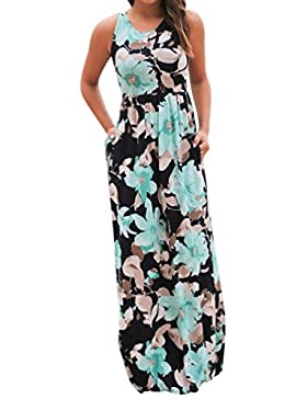SKY Celebrate for the Summer !!!Mujeres La Sra fresco vestido sin mangas largas de impresión y tierra
