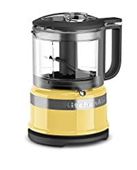 Majestic Yellow : KitchenAid KFC3516MY 3.5 Cup Mini Food Processor, Majestic Yellow
