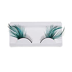 Magideal Fashion Feather False Eyelashes Fancy Dress Fake Halloween Make-up