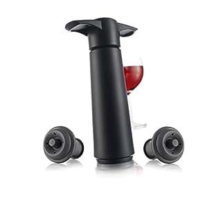 Vacu Vin 981460 Wine Saver Vacuum Wine Pump with 2 Stoppers