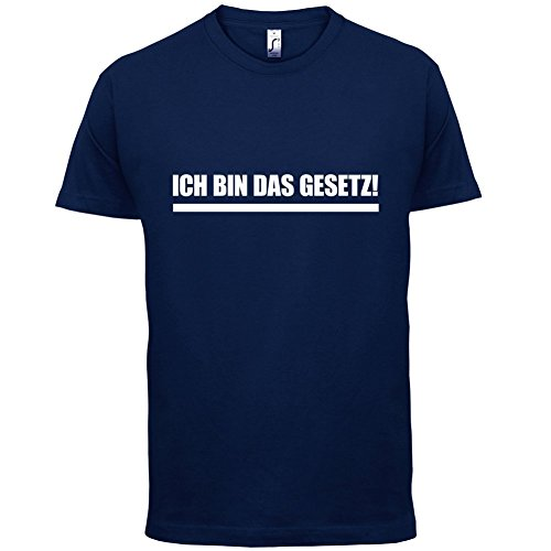Ich bin das Gesetz - Herren T-Shirt - 13 Farben Navy