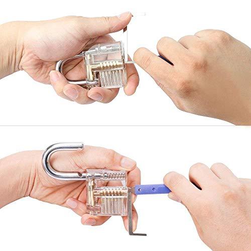 RENNICOCO Entriegelungsset, 17-teilige Entriegelungswerkzeuge Entriegelungs- und Übungsschlösser zum Entriegeln, Entriegelungswerkzeug für Anfänger und Profi-Schlosser -