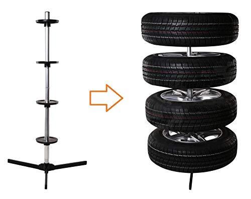 Bresetech Reifenständer Felgenständer Ständer Baum Halter Reifenbaum Felgenbaum Reifenhalter Felgenhalter für 4 Reifen bis 225mm MIT oder OHNE Reifentasche (Ständer)