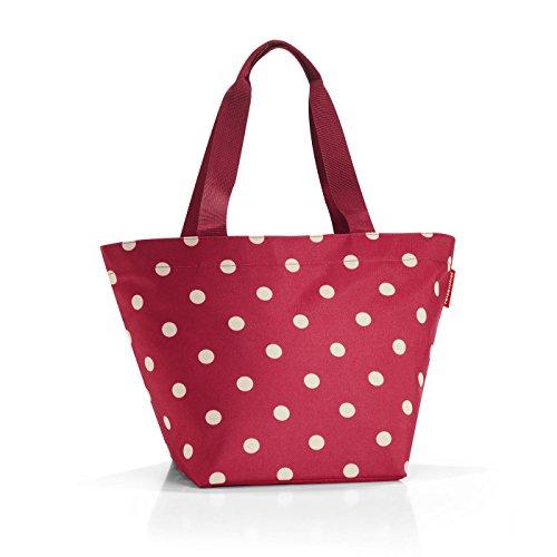 Reisenthel borsa per la spesa shopper m, rosso (ruby dots)
