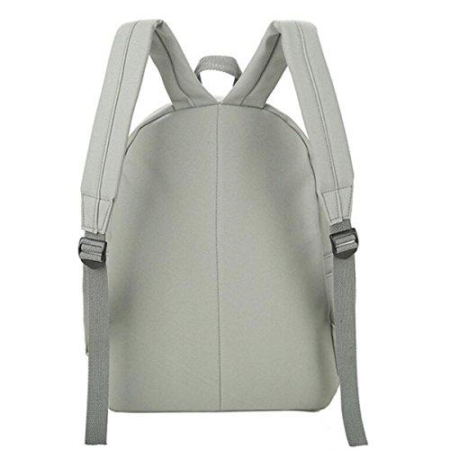 Lady Scrub Borsa In Pelle Di Spalla Scuola School Backpack Girl,Gray Beige