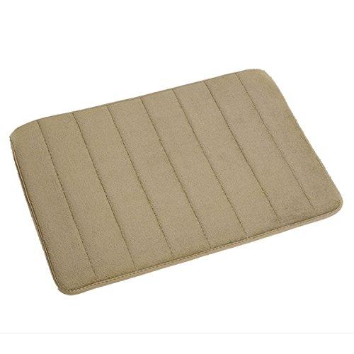 Ancdream Badgarnitur rutschfesten teppich weich Badematte bad memory foam bath schlafzimmer und dusche Matte fussabtreter Badteppich 40 x 60cm (Dunkel Rot)