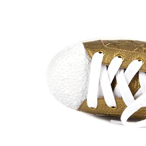 Ash Chaussures Liu Baskets en Cuir, Femme Or