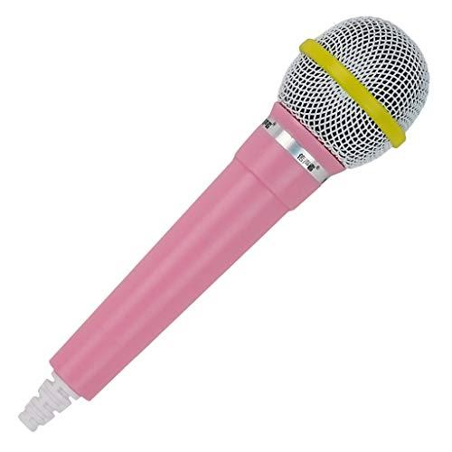 Mikrofon Prop Kostüm - Almencla Mikrofon Prop Kostüm Handheld Sänger Telemarketer Kids Fake Toy Mic - Rosa, 20 x 5,3 x 1,1 cm
