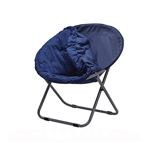 YQQ-Chaise pliante Chaise De Pause Déjeuner Chaise Longue Acier Amovible Et Lavable 50 * 82CM (Couleur : Bleu)
