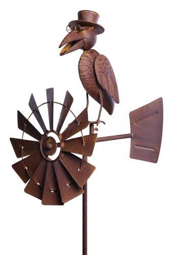 Rabe Windrad Metall, 50x30x150 cm