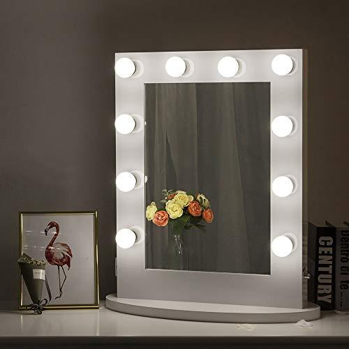 Chende Hollywood Spiegel mit Beleuchtung, Leuchtende LED Schminkspiegel mit Den Dimmbaren...