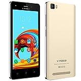 Moviles Libres Baratos 4g   v mobile A10 Android 7.0 - 5 Pulgadas HD Moviles Baratos Quad Core 8GB 5MP Cámara Dual SIM GPS Telefonos 2800mAh Móviles y Smartphones Libres  Dorado