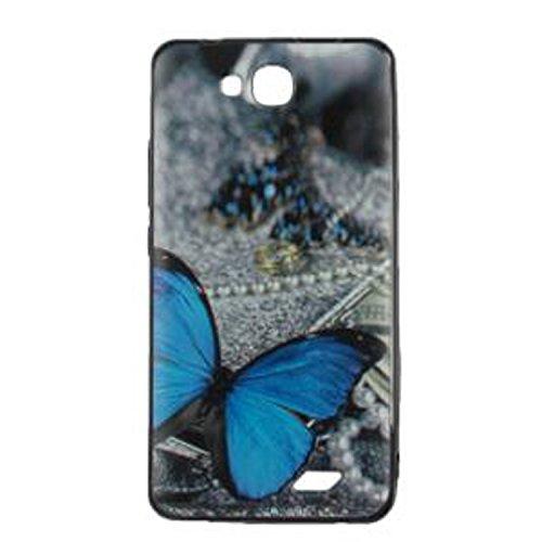 Yrlehoo Für Oukitel C3 5.0 Zoll, Premium Softe Silikon Schutzhülle für Oukitel C3 5.0 Zoll Tasche Case Cover Hülle Etui Schutz Protect, Schmetterling