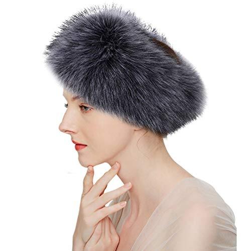 Russische Faux Pelz Hut - ASKEN Damen Faux Pelz Stirnband Elastischer