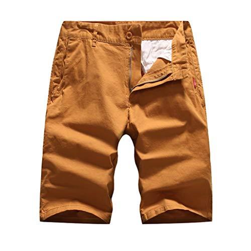 YU'TING ☀‿☀ Cargo Pantaloncini Uomo, Pantaloncini Uomo Bermuda Chino Shorts Pantaloni Chino Shorts Pantaloni Regular Fit Pantaloncini Chino Lunghi da Uomo