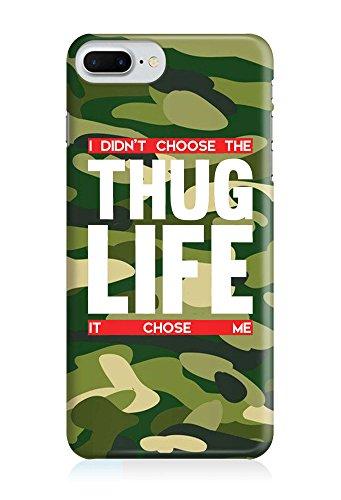 COVER Statement Spruch Quote thug life camouflage Militär Design Handy Hülle Case 3D-Druck Top-Qualität kratzfest Apple iPhone 8 Plus