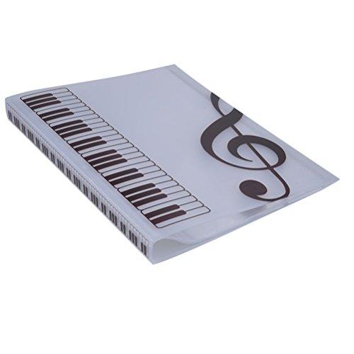 rosenice Musik Klinge Ordner Dokumente Datei 40Taschen sostenedor Lagerung von Papier (weiß)