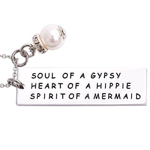 lparkin Soul of a Gypsy Heart of a Hippie Halskette Edelstahl Ketten