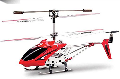 ConPush Helicopter SYMA S107G 3 Channel RC with Gyroscopic Control (Rot) - Rot Helicopter Syma
