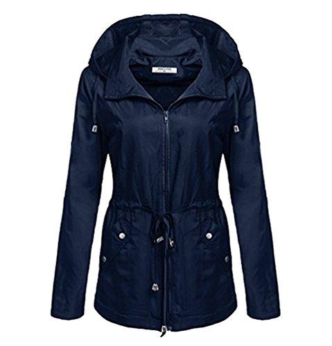 WanYang Leichtgewicht Damen Mantel Wasserdicht Atmungsaktiv Multifunktionale Winterjacken Frauen Kapuze Outdoor Jacke