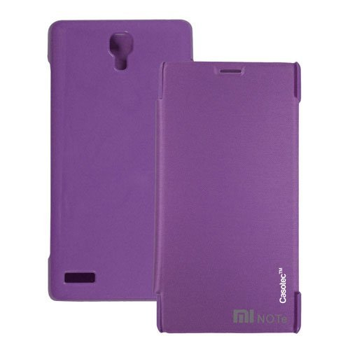 Casotec Premium Flip Case Cover for Xiaomi Redmi Note - Purple  available at amazon for Rs.199