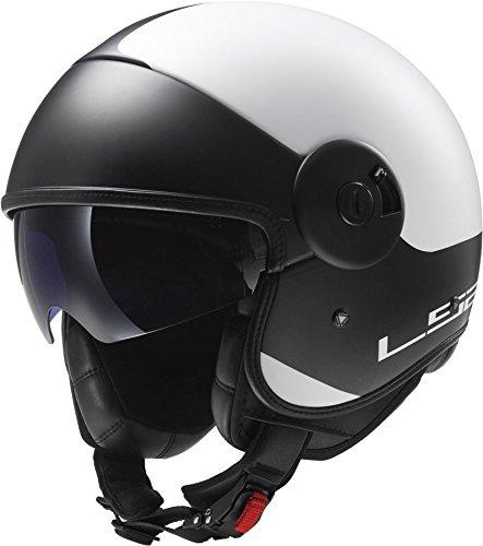 Preisvergleich Produktbild LS2 of597 Cabrio über matt weiß schwarz Motorrad Helm