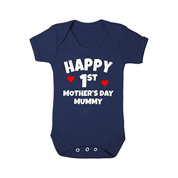 Purple Penguin Clothing Baby Grow - 1st Mother's Day (2)