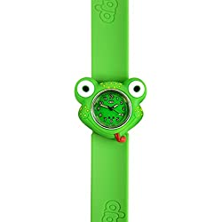 Frog watch-3D animals-Multi colour-Easy to read clock-Fashion watches-Time teaching-Children Boys Girls-Splash resistant-Easy snap on wrist watches-Perfect birthday gifts Christmas gift