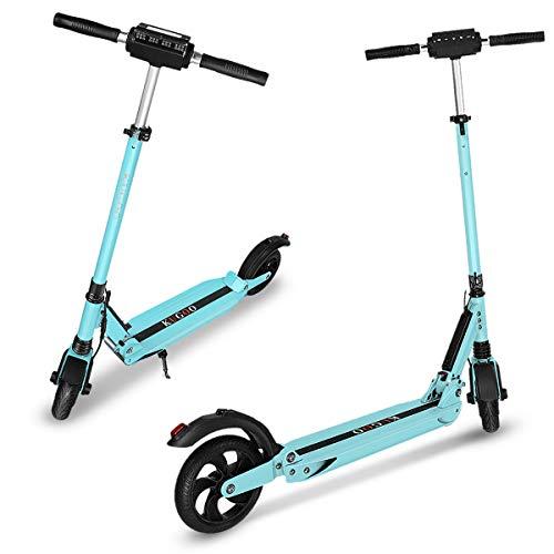Elektro Scooter City Elektroscooter mit 30 Km/h Geschwindigkeit und 30 Km Reichweite, Faltbarer E-Scooter mit LCD-Anzeige, Li-Ion Akku, City E Roller Erwachsene und Kinder (1 Pack-Blau)