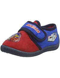 Cars Jungen Boys Kids Velcro Low Houseshoes Flache Hausschuhe